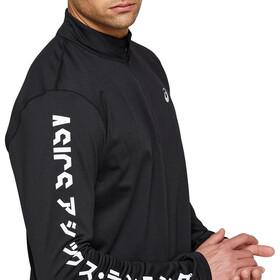 asics Katakana Camiseta Manga Larga 1/2 Cremallera Invierno Hombre, negro